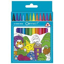 Flomaster školski  12boja trokutasti Connect blister