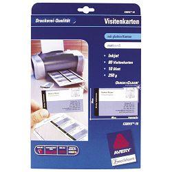 Papir Ink Jet A4 za vizitke 260g pk10 Zweckform C32015-10