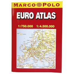 Auto karta Europe-euro atlas A4 (knjiga) Trsat