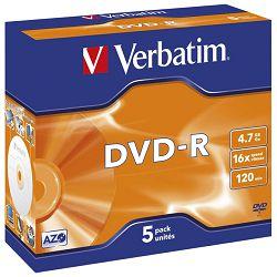 DVD-R 4,7/120 16x JC Mat Silver Verbatim 43519
