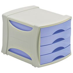Kutija s  4 ladice Intego Esselte 398400 sivo-prozirno plava!!