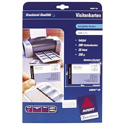 Papir Ink Jet A4 za vizitke 260g pk25 Zweckform C32015-25