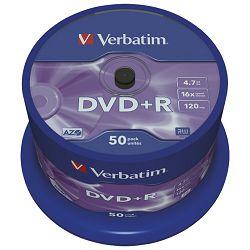 DVD+R 4,7/120 16x spindl Mat Silver pk50 Verbatim 43550
