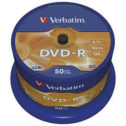DVD-R 4,7/120 16x spindl Mat Silver pk50 Verbatim 43548