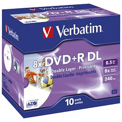DVD+R DL 8,5/240 8x JC printable Verbatim 43665!!