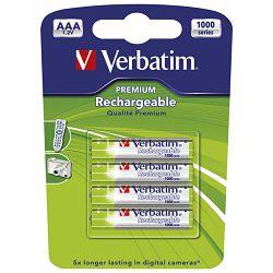 Baterija za punjenje 1,2V AAA pk4 Verbatim 49942 LR03 blister