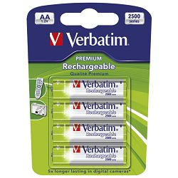 Baterija za punjenje 1,2V AA pk4 Verbatim 49941 LR6 blister