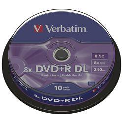 DVD+R DL 8,5/240 8x spindl pk10 Verbatim 43666