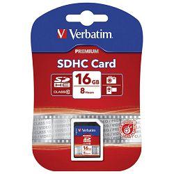 Kartica memorijska SDHC 16GB Verbatim 43962 blister
