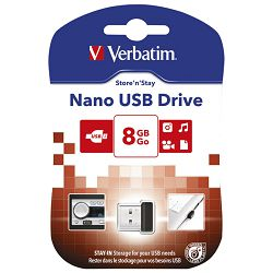 Memorija USB  8GB StorenStay Nano Verbatim 97463 blister!!