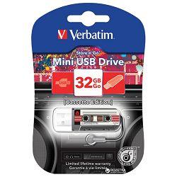 Memorija USB 32GB Cassette mini Verbatim 49391 crna blister