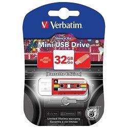 Memorija USB 32GB Cassette mini Verbatim 49392 crvena blister