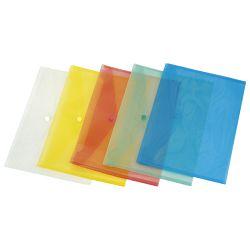 Kuverte s gumbom A4 pp Donau 8544001PL-10 prozirne plave