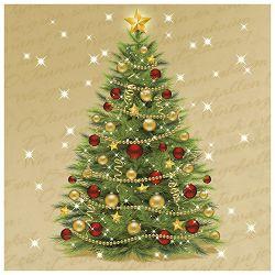Salvete troslojni 33x33cm pk20 Christmas  tree Herlitz 11383890!!