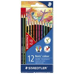 Boje drvene  12boja Noris colour Stedtler 185 C12P  10+2 boje gratis
