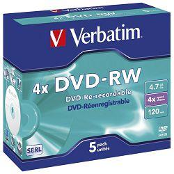 DVD-RW 4,7/120 4x JC Mat Silver Verbatim 43285