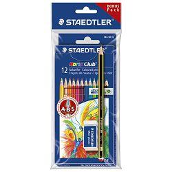 Boje drvene  12boja sa gumicom+olovka grafitna Noris Staedtler 61SET6 blister