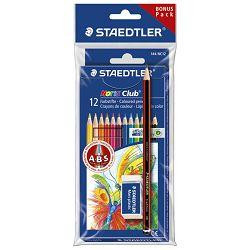 Boje drvene  12boja sa gumicom+olovka grafitna Noris Staedtler 61SET5 blister