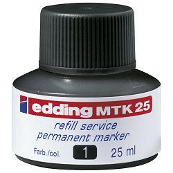 Tinta za marker permanentni 25ml Edding MTK25 crna
