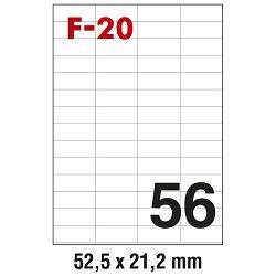 Etikete ILK  52,5x21,2mm pk100L Fornax F-20
