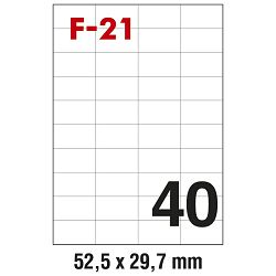 Etikete ILK  52,5x29,7mm pk100L Fornax F-21