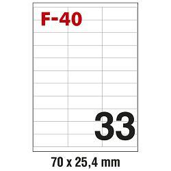 Etikete ILK  70x25,4mm pk100L Fornax F-40