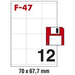 Etikete ILK  za diskete 70x67,7mm pk100L Fornax F-47