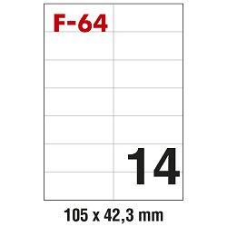 Etikete ILK 105x42,3mm pk100L Fornax F-64