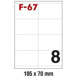 Etikete ILK 105x70mm pk100L Fornax F-67