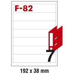 Etikete ILK za registratore 192x38mm pk100L Fornax F-82