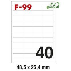 Etikete ILK  48,5x25,4mm odljepljive pk100L Fornax F-99