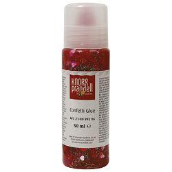 Ljepilo glitter konfeti 50ml Srca Knorr Prandell 21-8099206 crveno