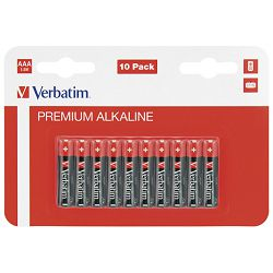Baterija alkalna 1,5V AAA pk10 Verbatim 49874 LR03 blister