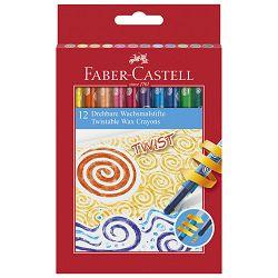 Boje voštane 12boja okretne Faber Castell 120003 blister