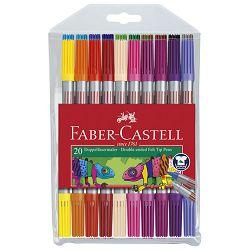 Flomaster školski  20boja obostrani Faber Castell 151119 blister