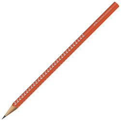 Olovka grafitna B Grip Sparkle Faber-Castell 118216 fluorescentno narančasta