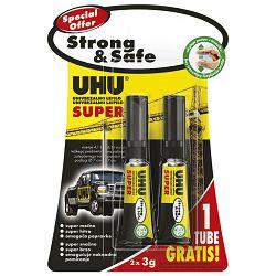 Ljepilo trenutačno 3g+3g gratis Super Strong&Safe UHU blister