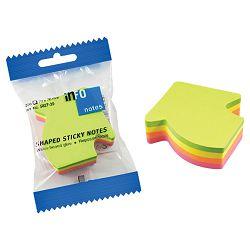Blok samoljepljiv oblik Strijela 200L Global Notes 5827-39 neon sortirano blister