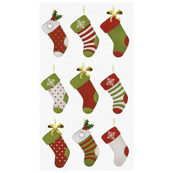 Naljepnice božićne 3D čarape Heyda 20-37807 22 blister