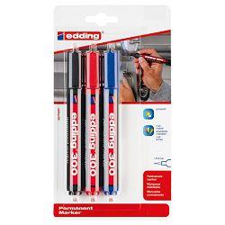 Marker permanentni 1,5-3mm okrugli vrh Edding 300/3boje blister 2+1 gratis