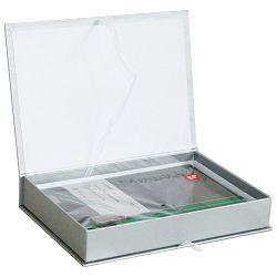 Set poklon notes Lanybook 14x21cm DS Tucson crte crno/zeleni + olovka kemijska Poly Ball XB crna Faber!!