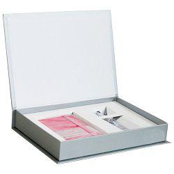Set poklon notes Lanybook  9x14cm Diamond karo pink+olovka kemijska Basic Faber Castell sjajna sre!!