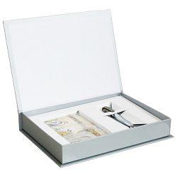 Set poklon notes Lanybook  9x14cm Ultimate Spirit crte bež+olovka kemijska N`ice Faber Castell maslinasto zelena!!