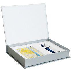 Set poklon notes Lanybook  9x14cm Sexy Notes Only karo žuto/plavi+olovka kemijska Grip 2010 Faber svijetlo plava!!