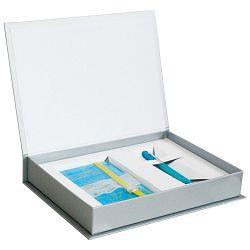 Set poklon notes Lanybook  9x14cm Sexy Notes Only karo plavo/žuti+olovka kemijska Grip 2010 Faber tirkizno-svijetlo zelena!!