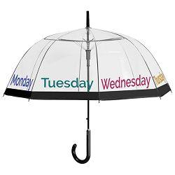 Kišobran automatik Time-dani u tjednu Perletti 26020 prozirni