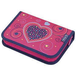 Pernica puna 1zip 2preklopa Pink Hearts Herlitz 50014347!!