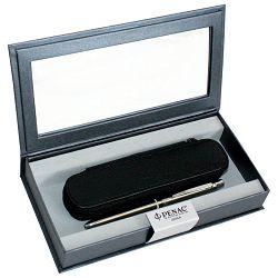 Set poklon olovka multifunkcijska 3F Slim + etui kožni Penac srebrna
