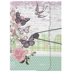 Fascikl klapa s gumicom pp A4 Ladylike Butterfly Herlitz 11224722!!