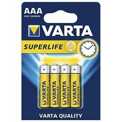 Baterija cink-karbon 1,5V AAA Superlife pk4 Varta LR03